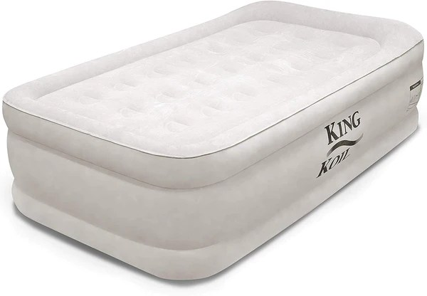 King Koil Twin Air Mattress with Built-in Pump - Double ...