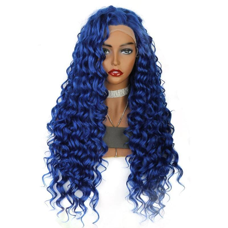 synthetic lace front wig long