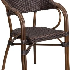 Indoor Outdoor Chairs Fishing Chair With Rod Holder Allicorp Milano Series Dark Brown Rattan Restaurant Patio Red Bamboo Aluminum Frame Sda