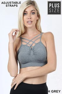 Plus seamless double criss cross bralette zenana outfitters also rh zenanaoutfitters
