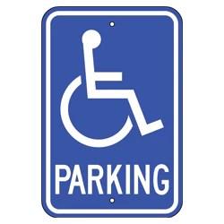 handicap parking signs ada