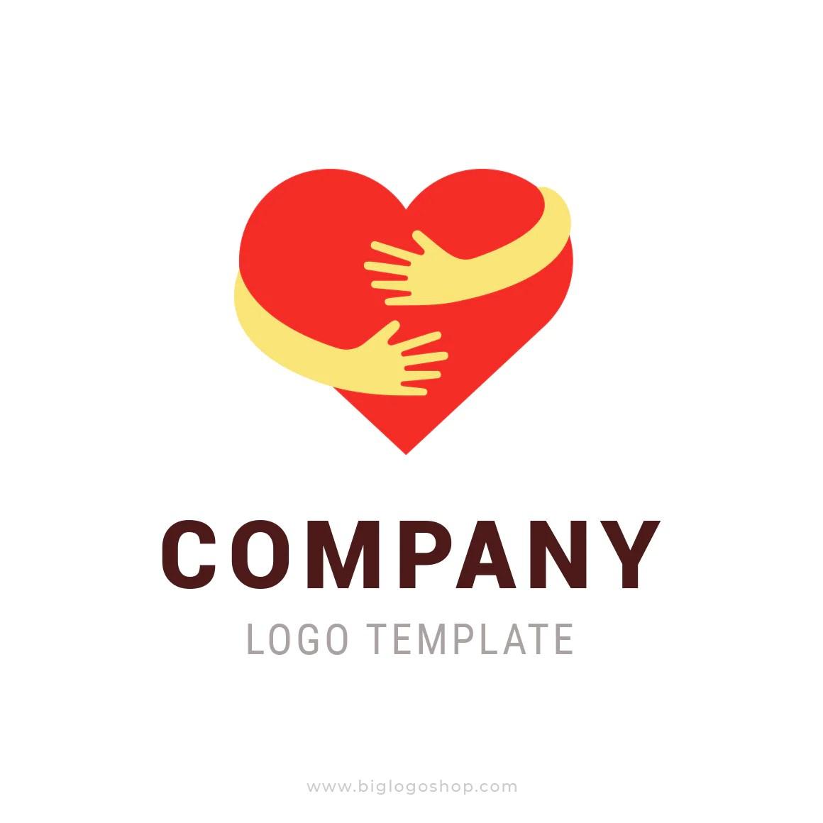 hugging heart logo symbol
