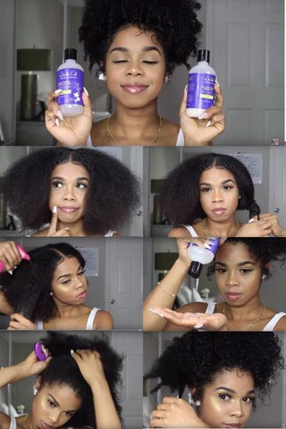 How To Curly Puff On Medium Length Natural Hair Wonder Curl