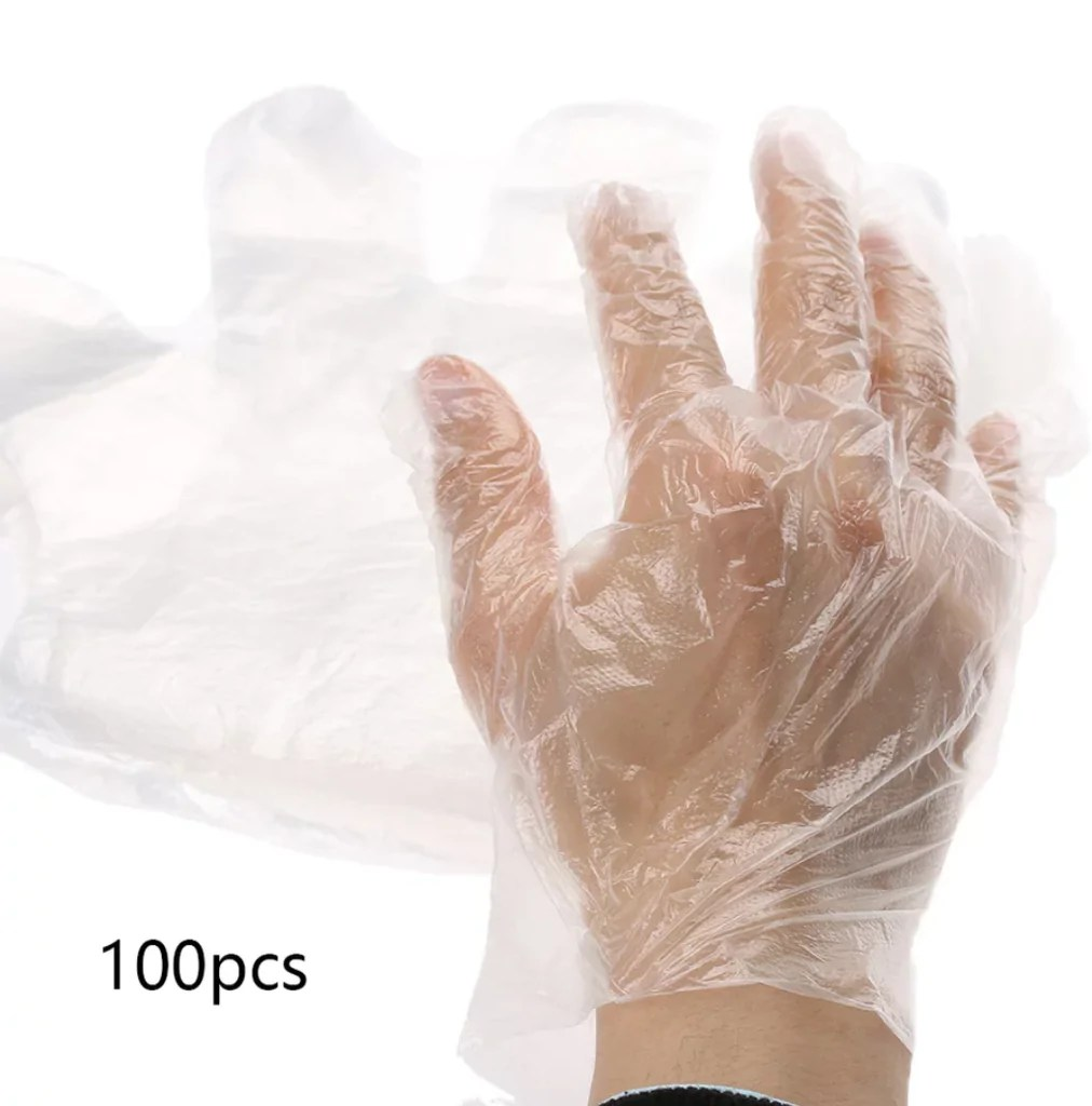 kitchen gloves wholesale supplies 100pcs plastic one time use just for you