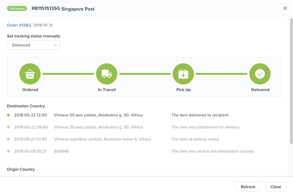 Shipping tracking in Oberlo · Shopify Help Center