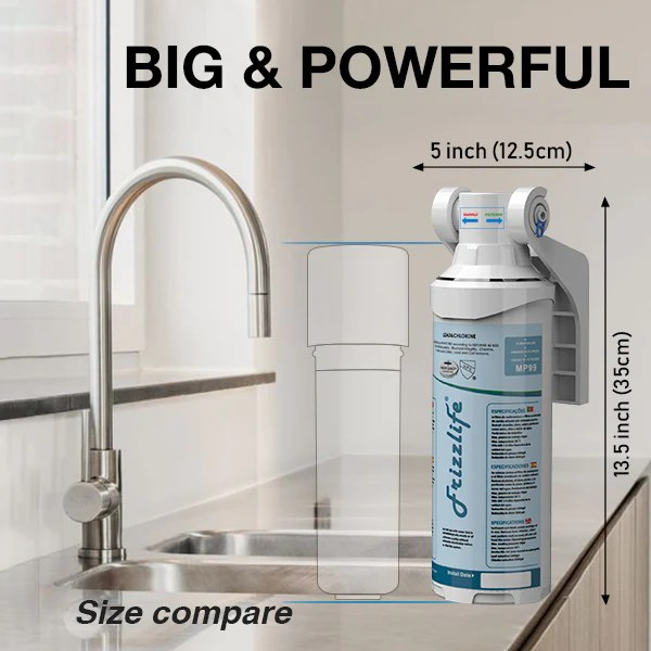 frizzlife mp99 under sink water filter with drinking faucet