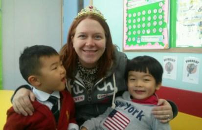 Kindergarten students in South Korea