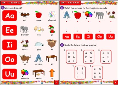 Little River English phonics book sample page