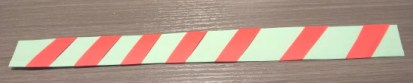 Candy cane striped basket handle