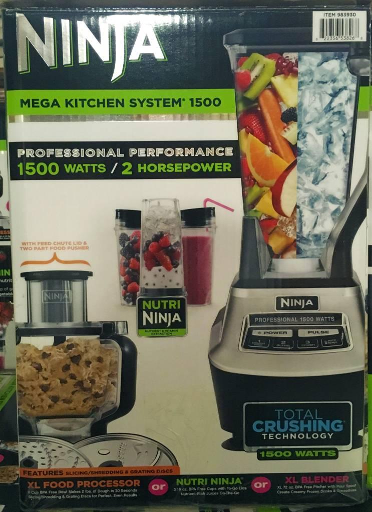 ninja mega kitchen 1500 floor nutrininja blender processor usa discount store system
