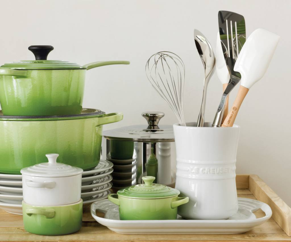 kitchen crocks best off white color for cabinets glazed in signature le creuset colors the utensil crock is ideal