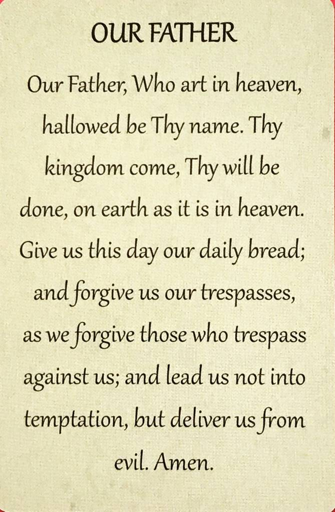 our father wallet prayer