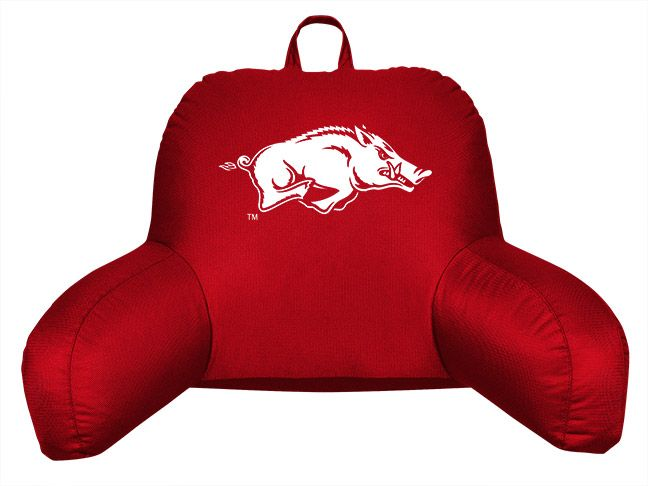 arkansas razorbacks bed rest pillow by sports coverage