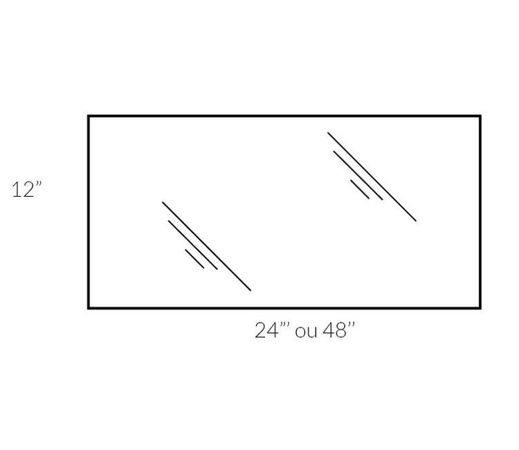 tablette verre trempe 10 x 48 x 5mm