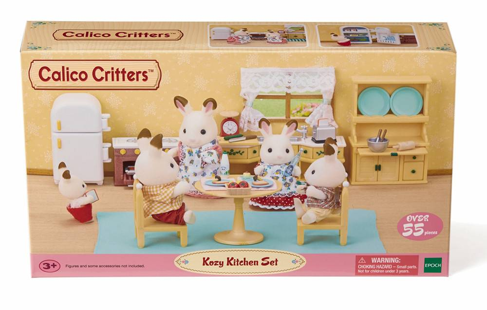 kitchen set solid wood table calico critters room kozy minds alive toys crafts books