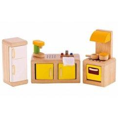 Hape Kitchen Premade Island Wooden Doll House Furniture Minds Alive Toys Crafts