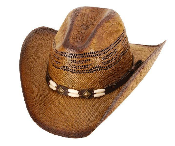 brockway straw western hat