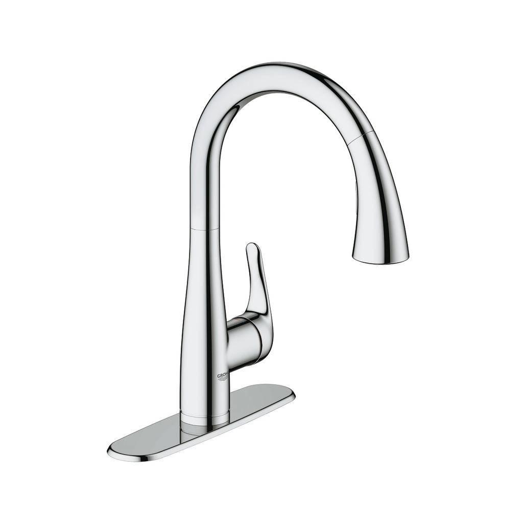 grohe 30211001 elberon single handle kitchen faucet chrome