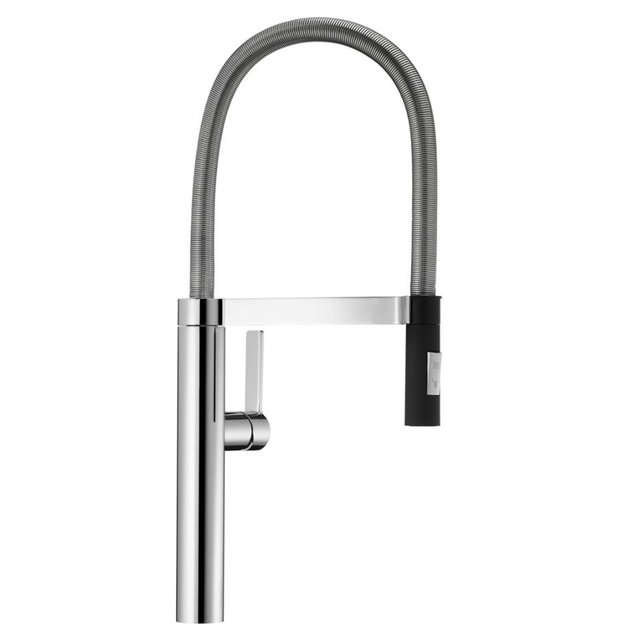 blanco 401222 culina pull down kitchen faucet classic steel