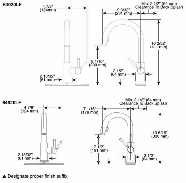 brizo brizo 64020lf solna single handle pull down smart touch kitchen faucet