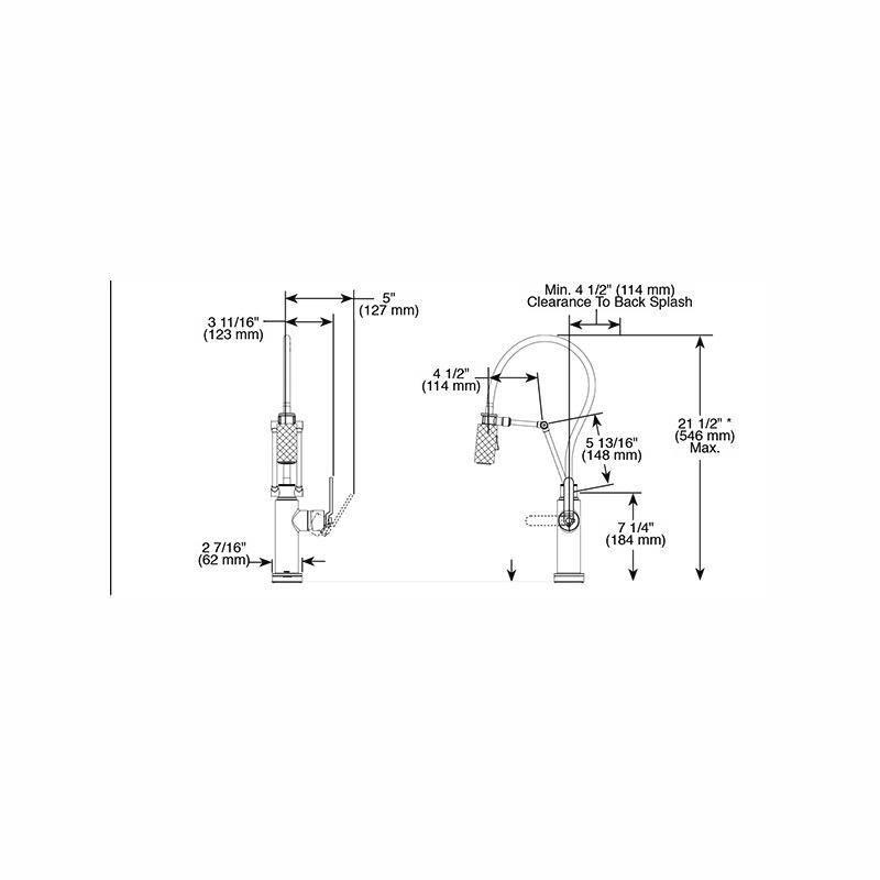 brizo brizo 64244lf litze smart touch articulating faucet luxe gold