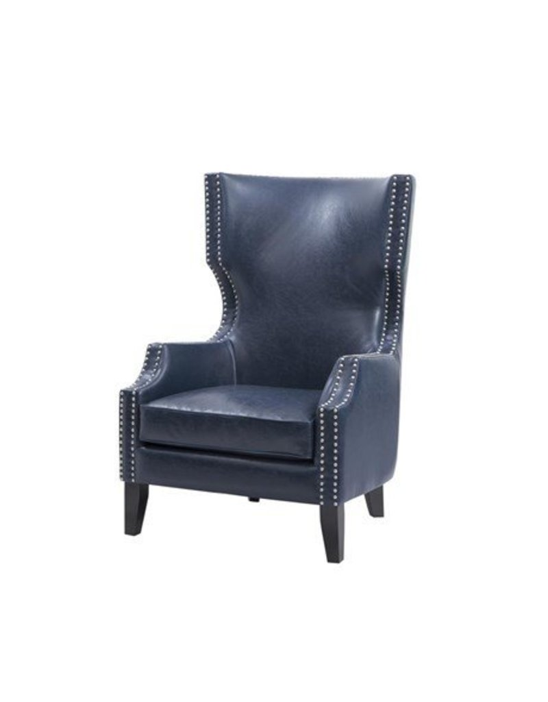 Wing Chair Brighton Modern Wing Chair Navy