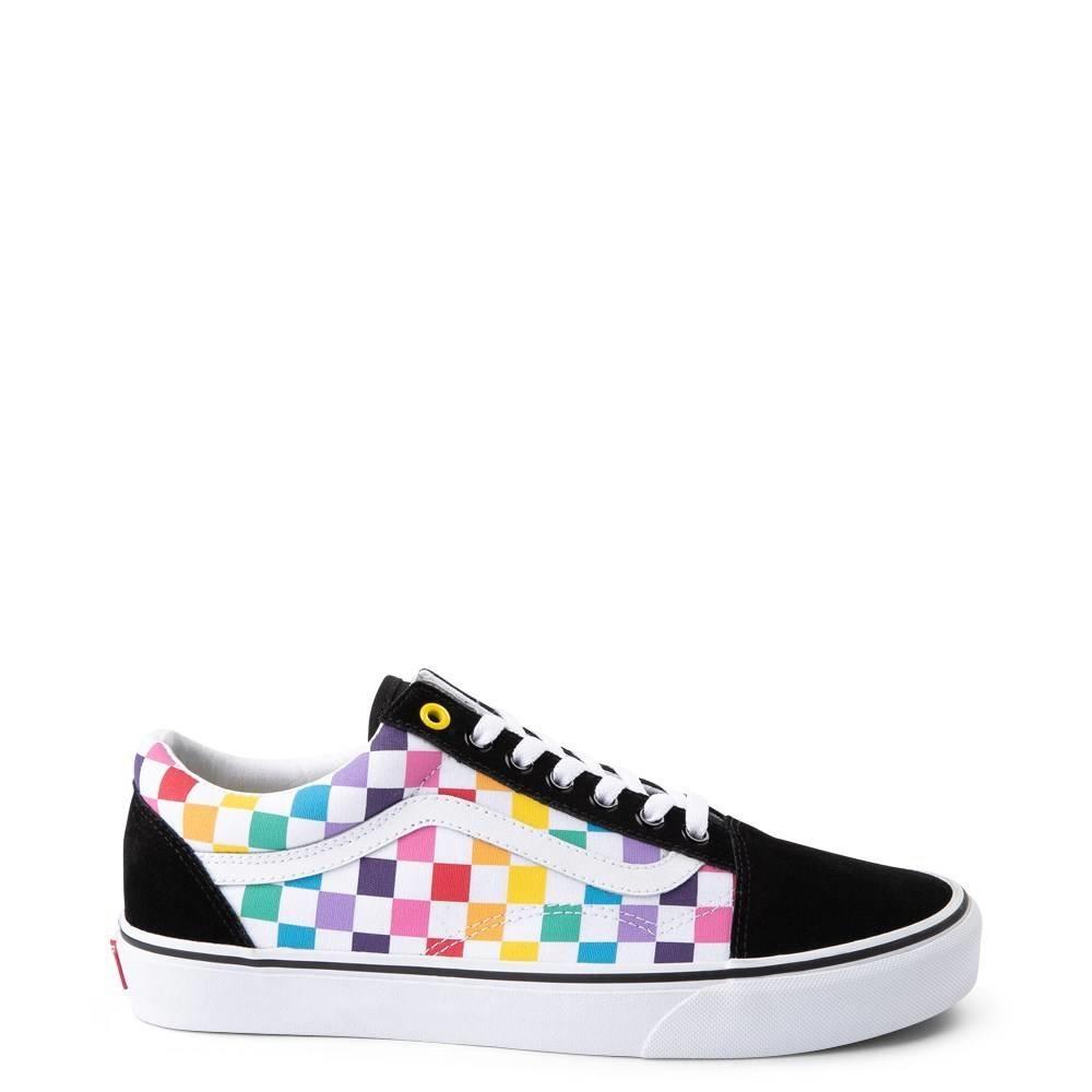 Vans Old Skool Rainbow Checkerboard Shoes  Drift House