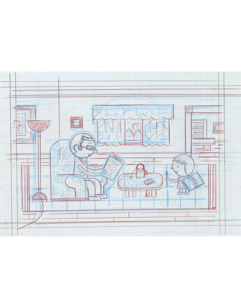 hight resolution of ivan brunetti living room pencil roughs by ivan brunetti for toon book 3x4