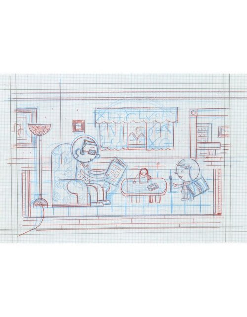 small resolution of ivan brunetti living room pencil roughs by ivan brunetti for toon book 3x4