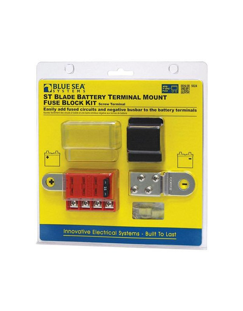 hight resolution of blue sea st blade battery terminal mount fuse block kit canada s marine online supply