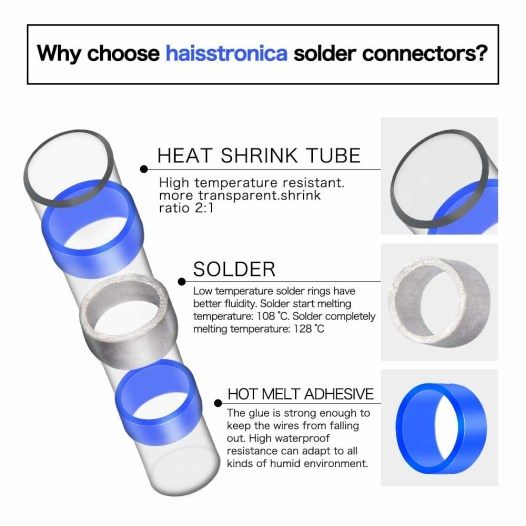 Solder Seal Wire Connectors Heat Shrink Butt Connectors AWG 16-14 (Pack Of  4) - Mariner Sails