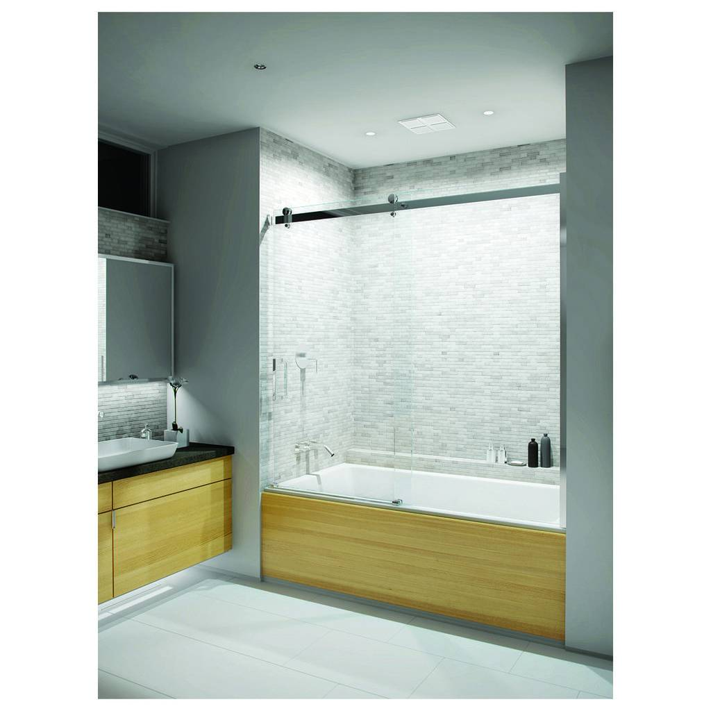 Slik Flow 60t 60 Flow Tub Shower Door Clear Glass Chrome