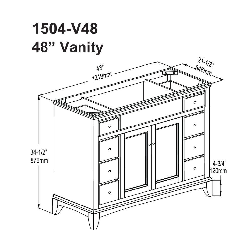 Fairmont Designs V48 Smithfield 48 Vanity