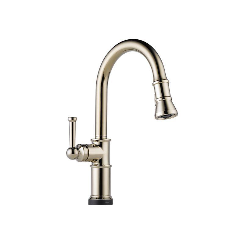 brizo 64025lf artesso single handle pull down smart touch kitchen faucet