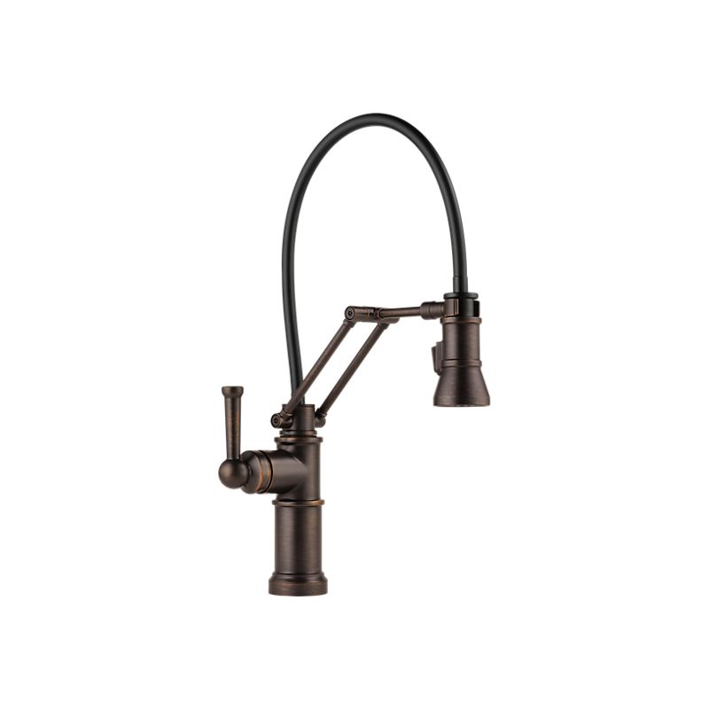 articulating kitchen faucet outdoor pergola brizo 63225lf artesso single handle home comfort centre