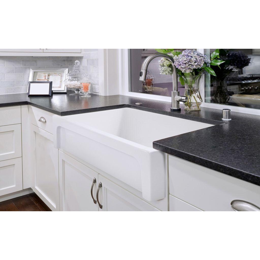 simas q500 farmhouse 30 single bowl fireclay farmhouse sink white glossy
