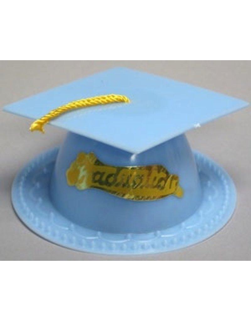 light blue graduation cap