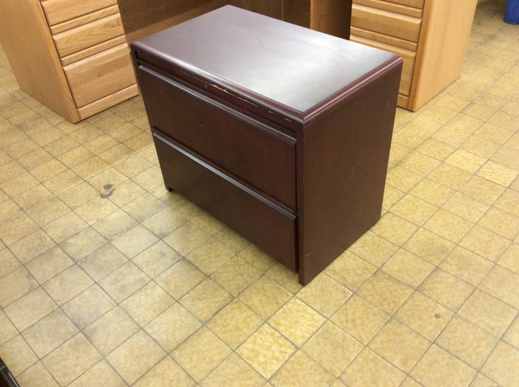 19x34x29 Cherry Wood 2 Drawer Lateral File Cabinet 5 23 19 Nd Surplus