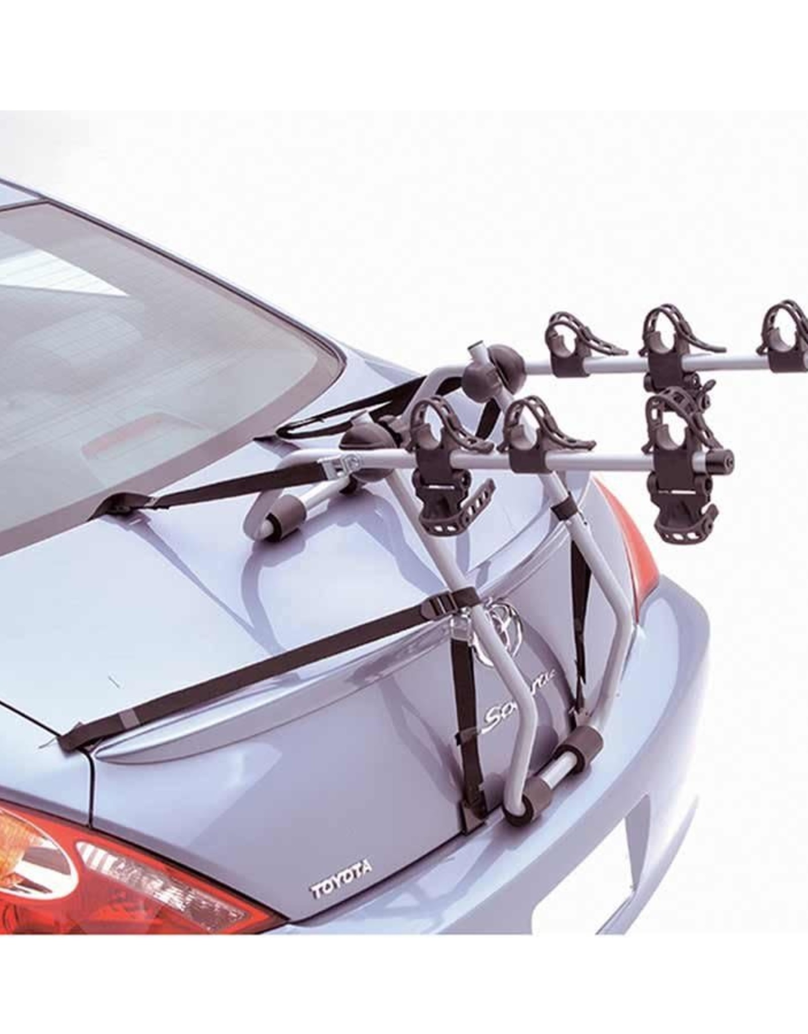 hollywood racks baja 3 bike trunk mount rack bikes 3 silver black