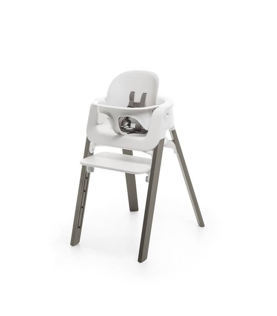 stokke high chair lifetime stacking chairs black steps bundle white zukababy