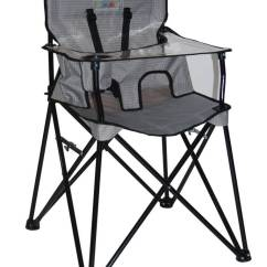 Portable High Chair Baby Beach With Canopy Ciao Highchair In Gray Check Zukababy