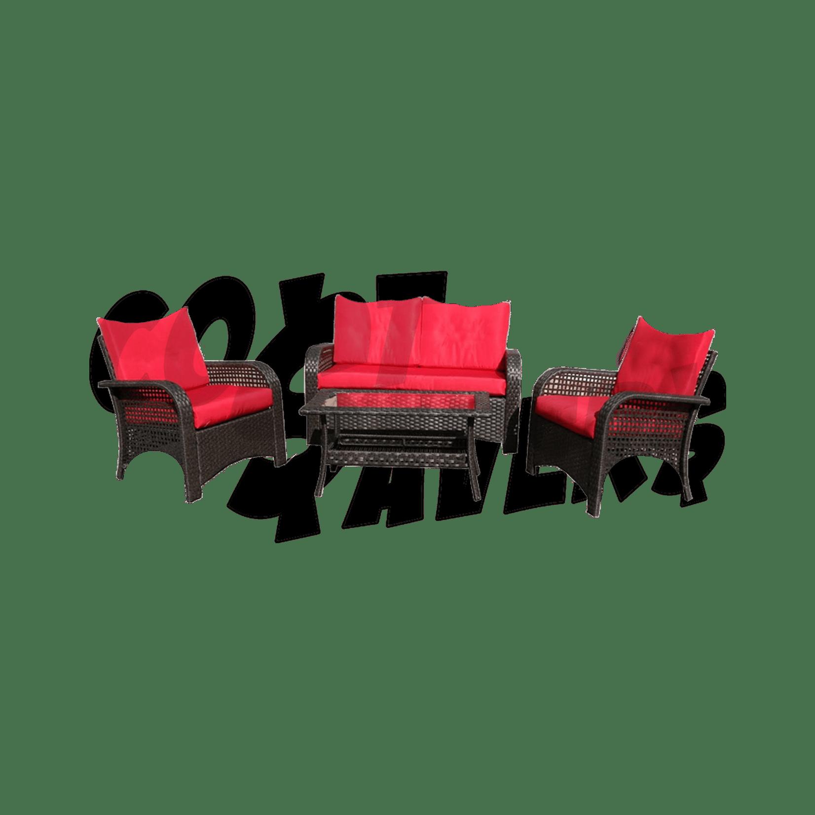 4pc moruga deluxe outdoor patio set