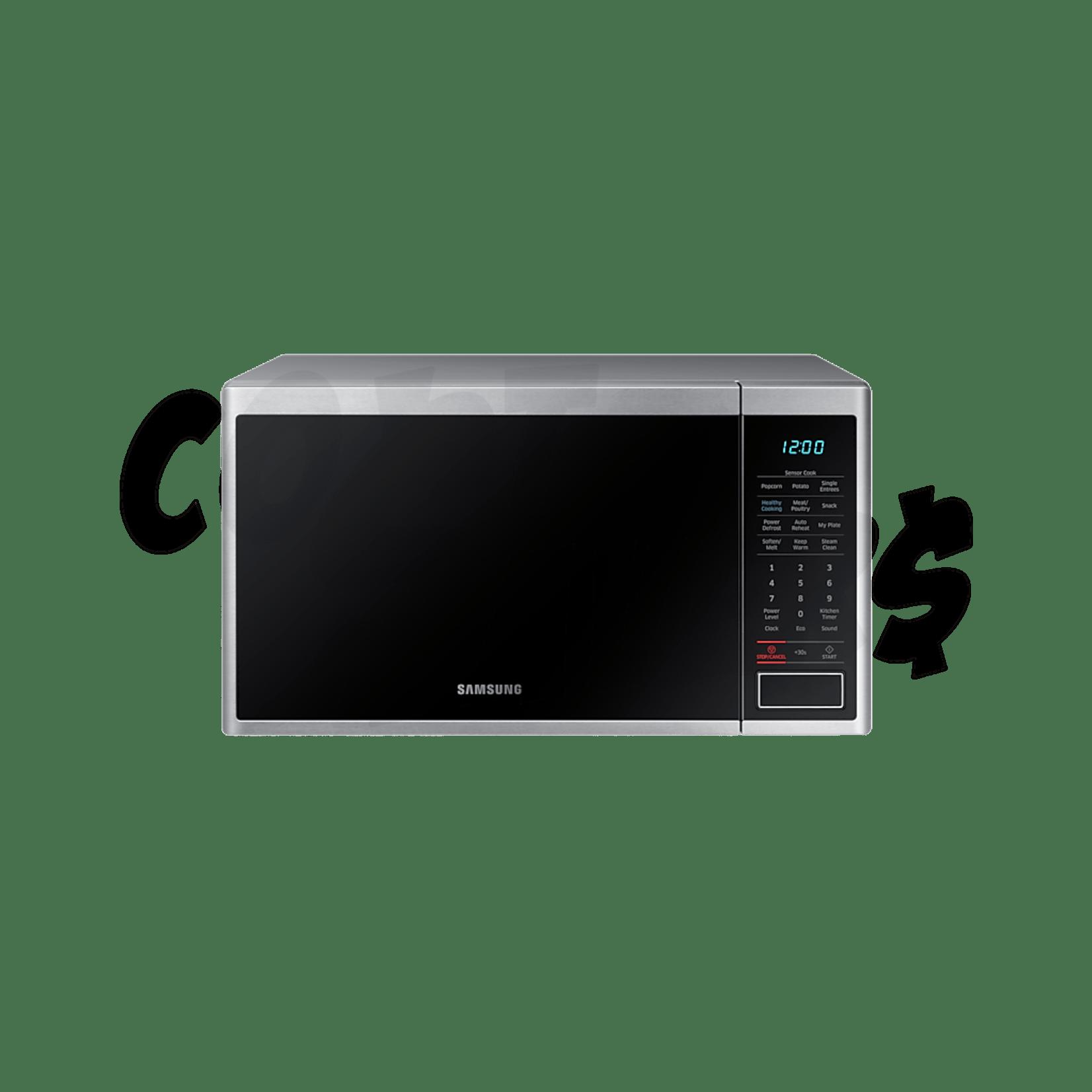 samsung 1 1 cu ft s steel microwave