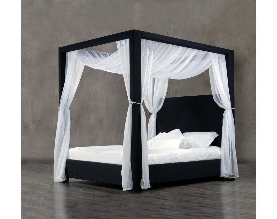rosemount king size canopy bed 60 dark navy blue denim