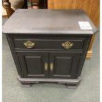 Black Painted Nightstand W Cabinet Door Heirloom Home