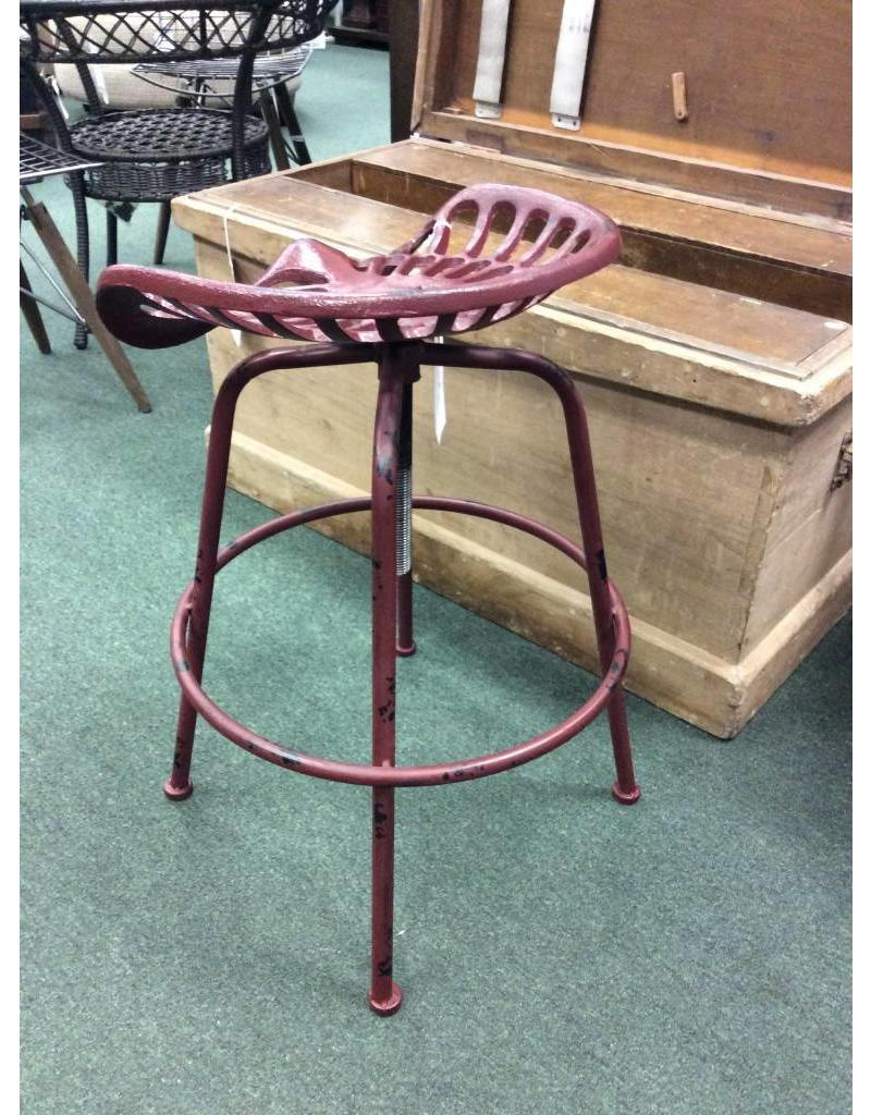 stool chair adjustable riser recliner chairs red tractor seat iron barstool heirloom home vintage height bar