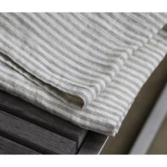 Gray Kitchen Towels How To Repair A Moen Faucet Linen Towel Stonewashed Grey White Stripes All Good Things