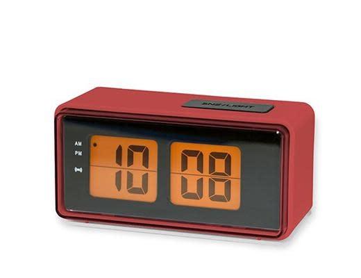 Red Digital Alarm Clock Kick It Old