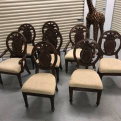 Basket Weave Dining Chairs Game Room Table And Endura 8 Chair Formal Tommy Bahama Style Key West Wood