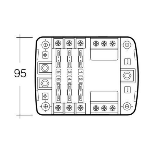 6-Way Standard ATS Blade Fuse or Plug-in Type Circuit
